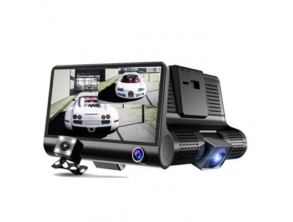 LED21 AK307A Duální auto kamera s LCD displejem, zadní parkovací a interiérovou kamerou